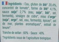 Seitan en tranches - Ingredients