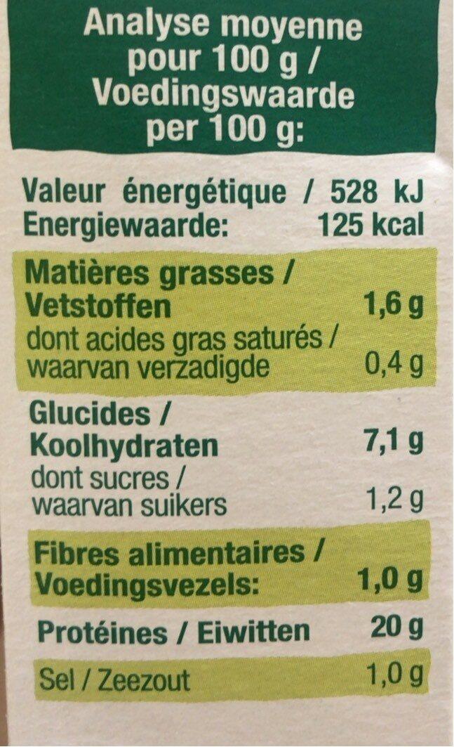 Seitan en tranches - Nutrition facts - fr