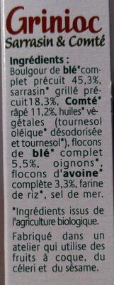 Grignoc Sarrasin & Comté - Ingrediënten - fr