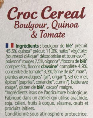 Croc'cereal - Ingrédients - fr