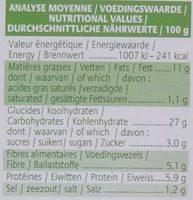 Croc'cereal - Informations nutritionnelles - fr