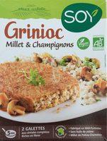 Grinioc Millet et Champignons - Produit