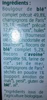 Grinioc Millet et Champignons - Ingrédients