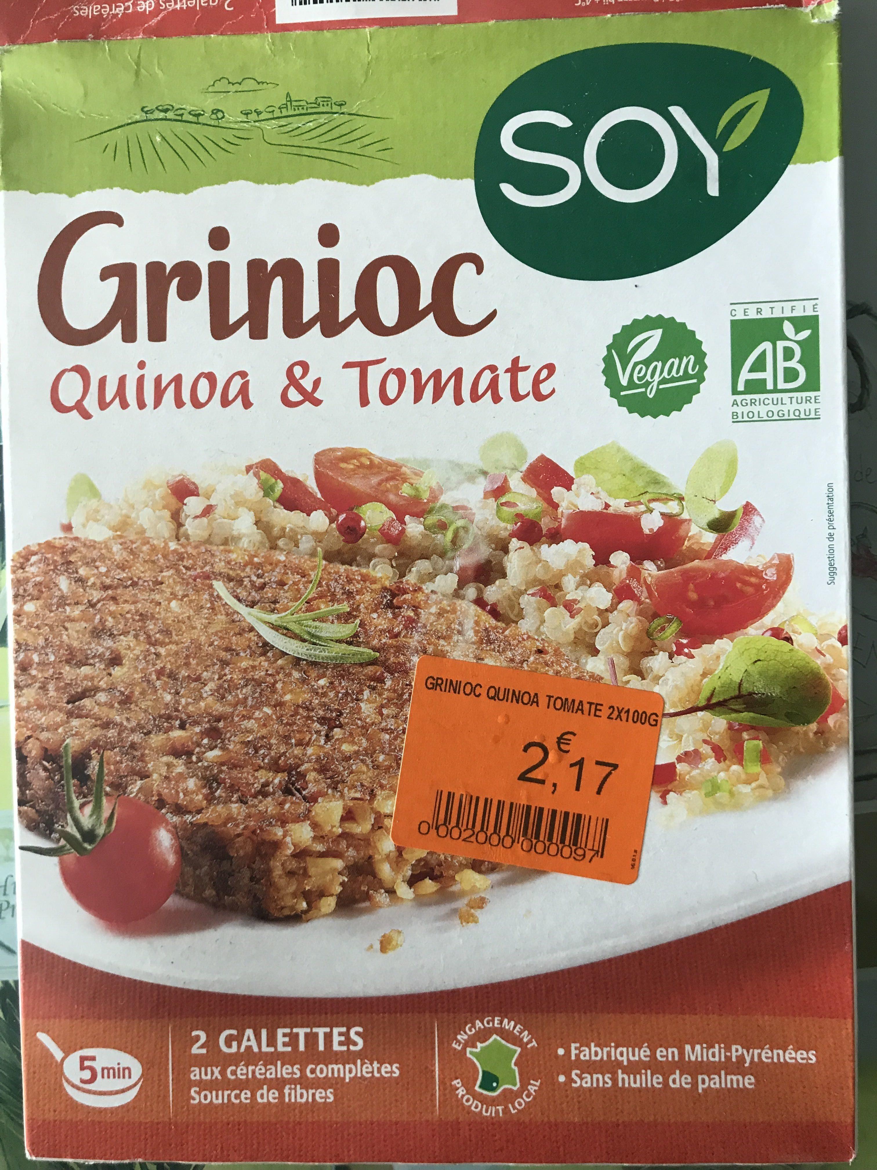 Grinioc Quinoa et tomates - Produit - fr