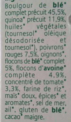 Grinioc Quinoa et tomates - Ingrédients - fr