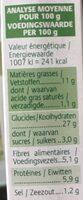 Grinioc Quinoa et tomates - Informations nutritionnelles - fr