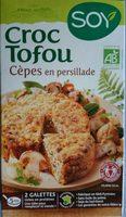 Croque tofou Cèpes en Persillade - Produit