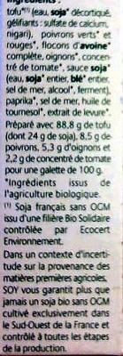 Croc Tofou à la Basquaise - Ingredients - fr
