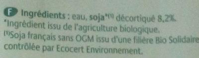 Biosoy Nature - Ingrediënten - fr