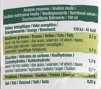 Biosoy Nature - Valori nutrizionali - fr