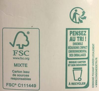 Biosoy Nature - Istruzioni per il riciclaggio e/o informazioni sull'imballaggio - fr