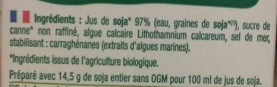 Biosoy Calcium - Ingredienti - fr
