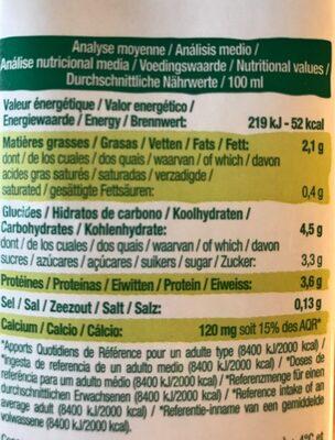 Biosoy Calcium - Valori nutrizionali - fr