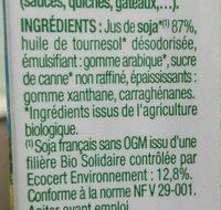 Soya Cuisine - Ingredients