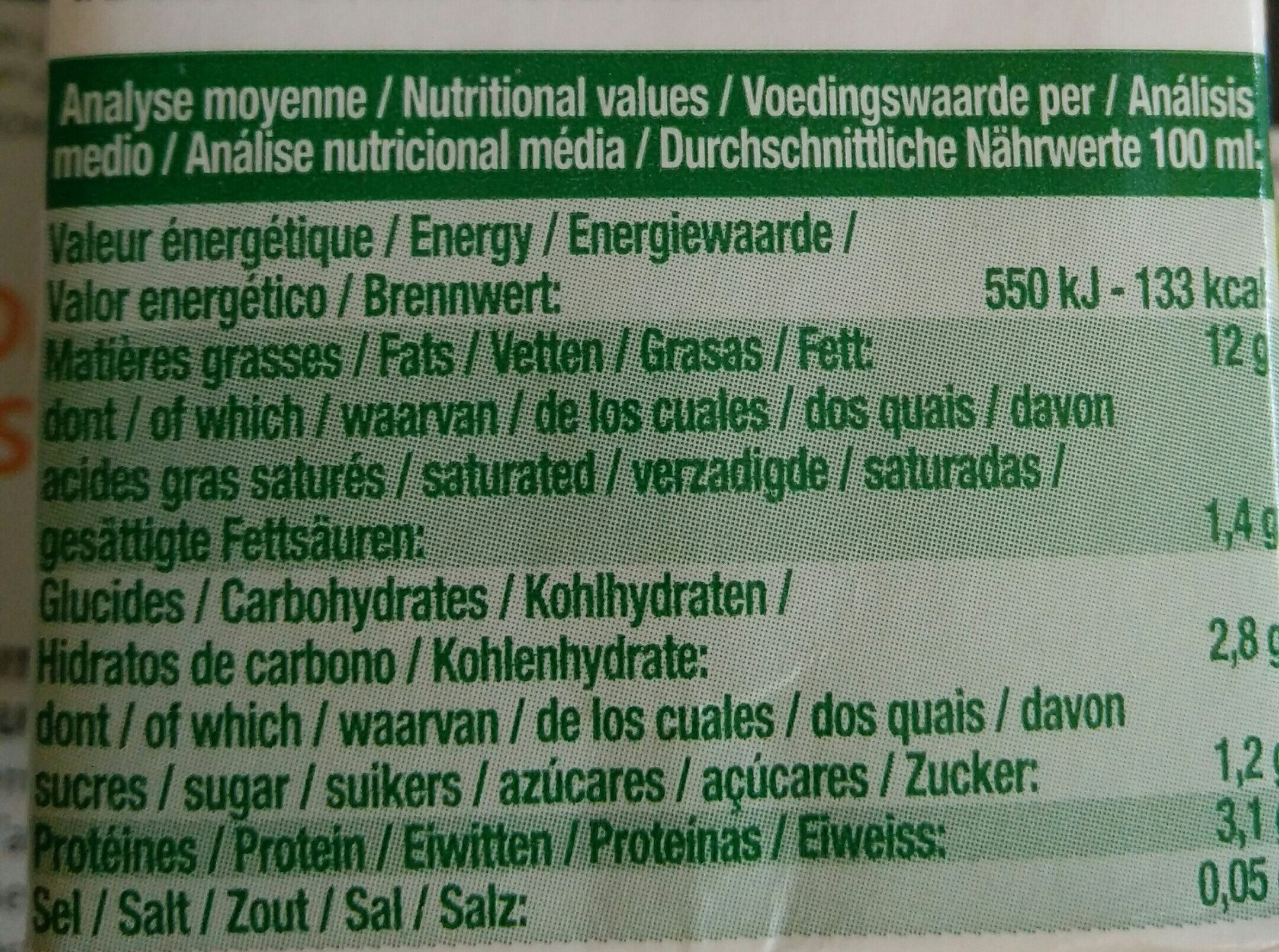 Soya Cuisine - Voedigswaarden