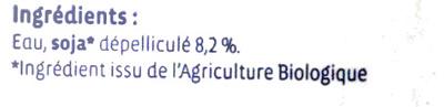 Boisson au soja nature Bio - Ingrediënten - fr