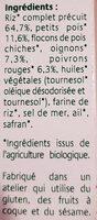 Grinioc riz petits légumes safran - Ingrédients