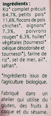 Grinioc riz petits légumes safran - Ingredients
