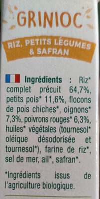Grinioc - Ingrediënten - fr