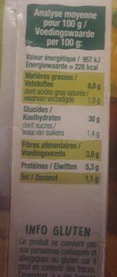 Grinioc - Voedingswaarden - fr