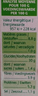 Grinioc riz petits légumes safran - Nutrition facts