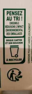 Boisson plaisir au soja chocolat au cacao équitable - Instruction de recyclage et/ou information d'emballage - fr
