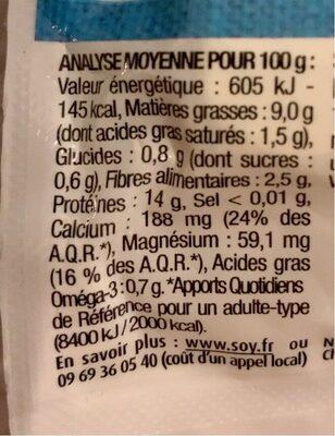 TOFOU Nature - Informations nutritionnelles - fr