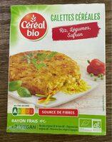 Galettes céréales riz, légumes, safran - Produit - fr