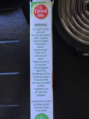 Galettes céréales riz, légumes, safran - Ingrédients - fr