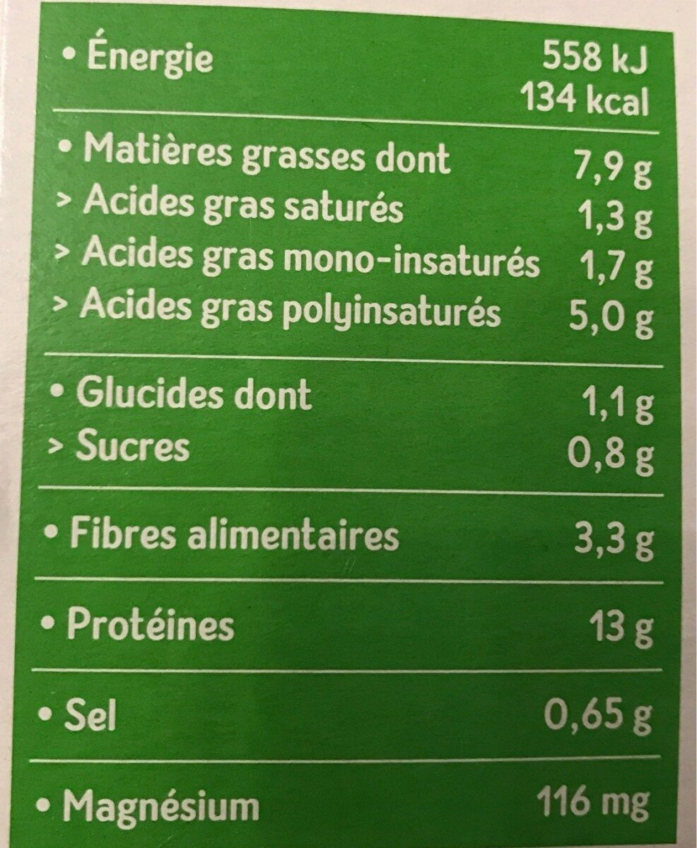 Tofu aux herbes - Valori nutrizionali - fr