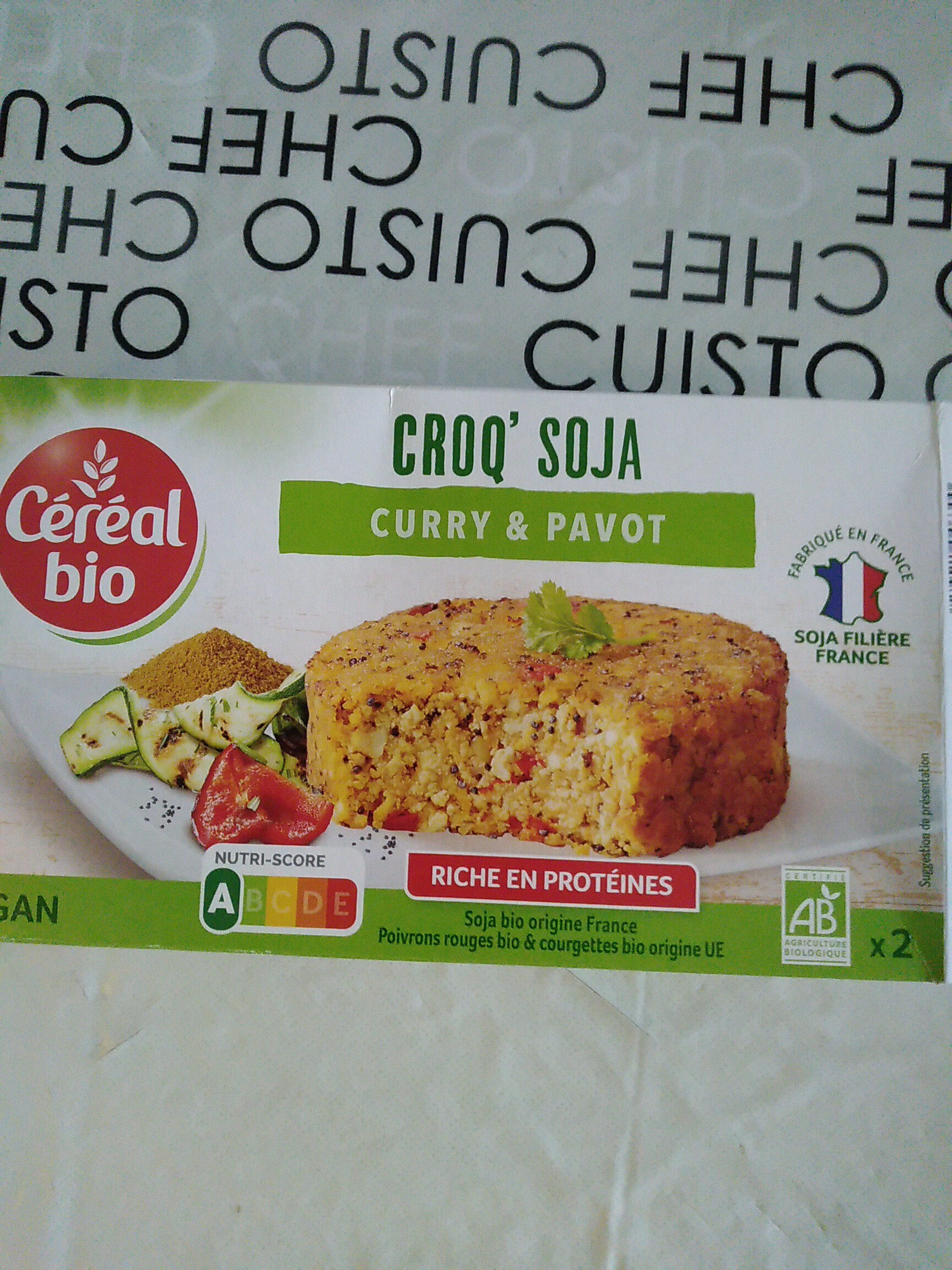 CROQ' SOJA curry & pavot - Product - fr
