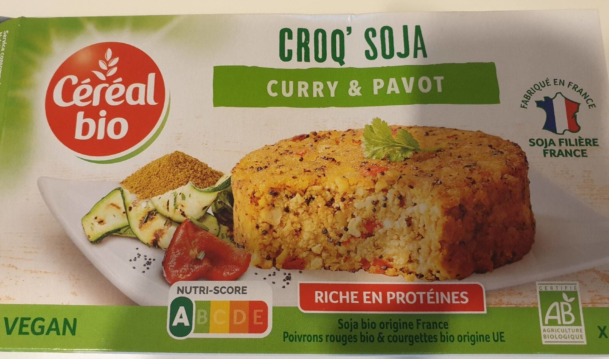 CROQ' SOJA curry & pavot - Recycling instructions and/or packaging information - fr