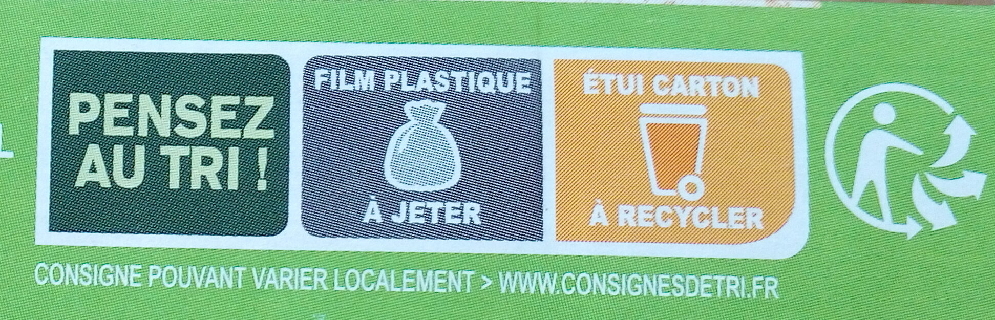 CROQ' SOJA - Recycling instructions and/or packaging information - fr