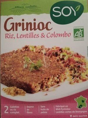 Grinioc Riz, lentilles et colombo - Product - fr