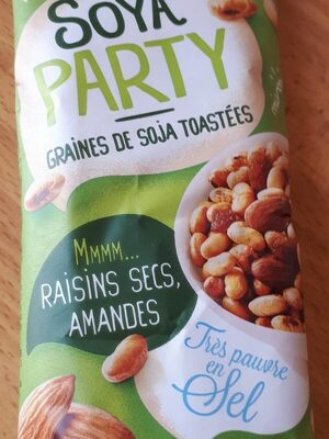Graines De Soja Toastees Amandes Raisins Secs - Nutrition facts - fr