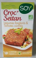 Croc'Seitan galette légumes et tomates confites seitan - Produit
