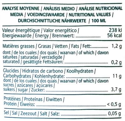 Boisson au Riz complet de Camargue, Nature - Informations nutritionnelles