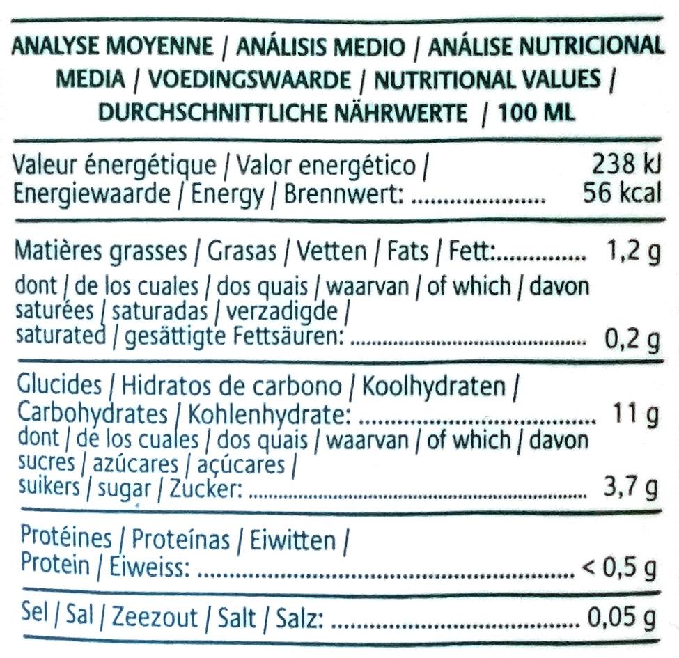 Riz complet de Camargue - Boisson Nature - Informations nutritionnelles - fr