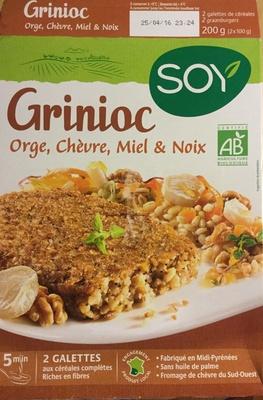 Grinioc orge, chèvre, miel et noix - Produit