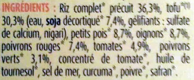 Paëlla recette végétale - Ingrédients - fr