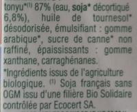 Soya cuisine - Ingredients - fr
