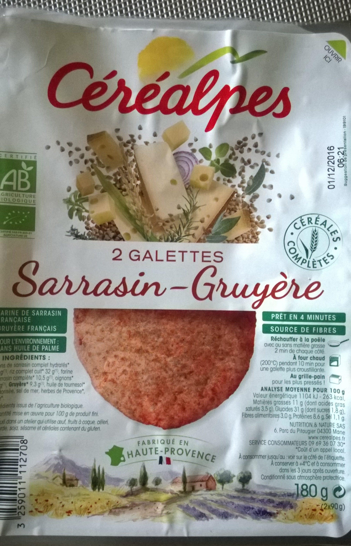 Galette Sarrasin Gruyère - Produit - fr