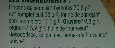 Galette Sarrasin Gruyère - Ingrédients - fr