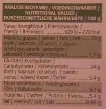 Croc' Céréal Orge - Chèvre - Miel - Nutrition facts
