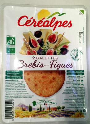 2 Galettes Brebis - Figues - Product