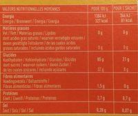 Crousti Fruits Rouges Sans Gluten - Informations nutritionnelles - fr