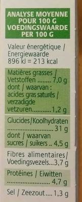 Grignoc Boulgour de blé, Curry & Coco - Informations nutritionnelles