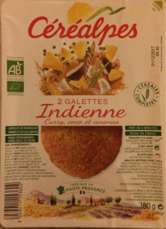 2 Galettes Indienne Curry, Coco et Ananas - Produit - fr