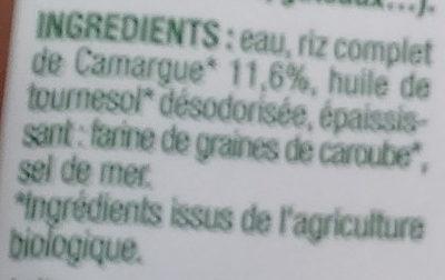 Riz cuisine au riz de Camargue bio - Ingrédients - fr