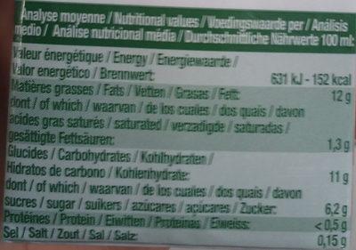 Riz cuisine au riz de Camargue bio - Informations nutritionnelles - fr